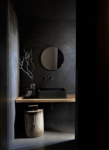 Nero e legno naturale