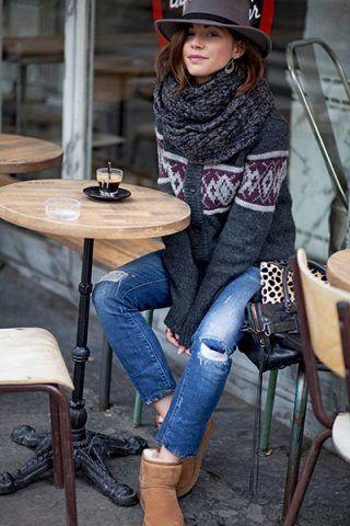 Jeans + maxi cardigan