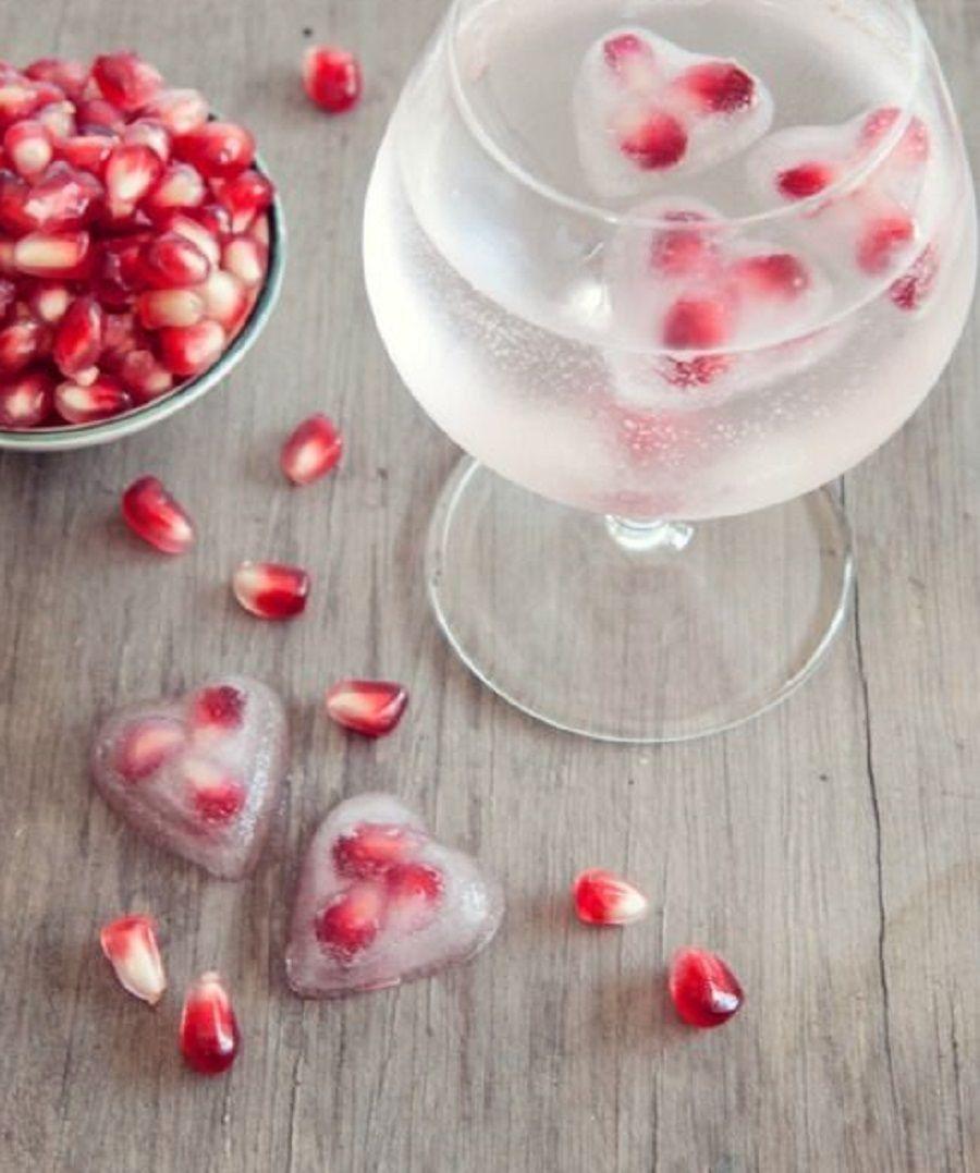Cuori di ghiaccio con melograni