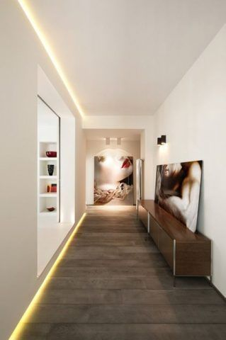 Un corridoio ben illuminato