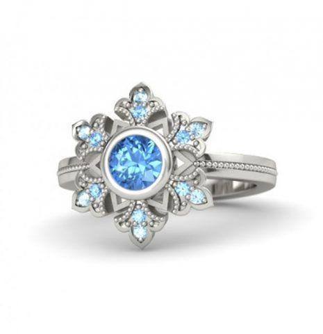 Elsa - con topazio blu