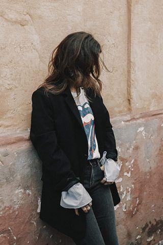 Maxi blazer e jeans - Dal blog Collage Vintage