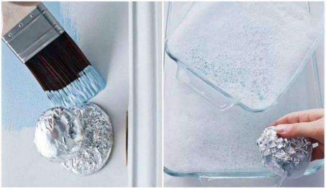 Foglio d'alluminio per pulire il vetro e per coprire mentre si pittura