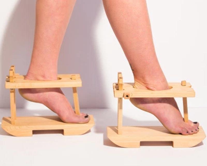 mondo Le del scarpe strane Bigodino più xfHq6