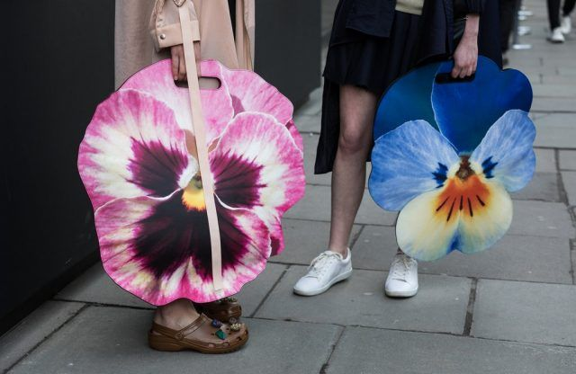 Maxi bag a forma di fiore