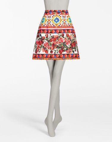 Gonna in cotone stampata - Dolce e Gabbana