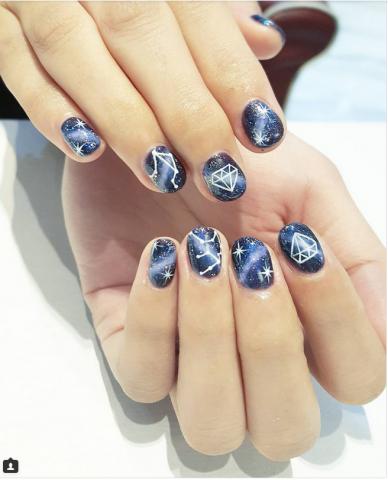 Nail art con costellazioni