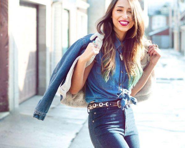 Indossa jeans a vita alta