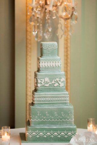 Torta color verde