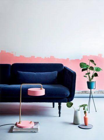 Blu e rosa tenue