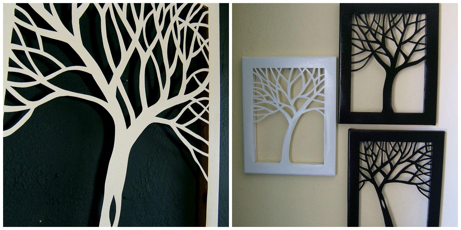 Come fare un albero intagliato su tela