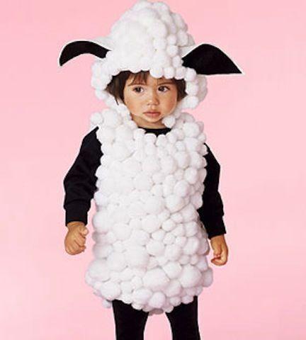Costume di Carnevale fai da te: pecorella