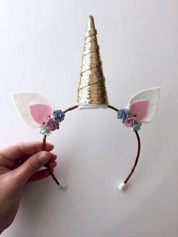 Costume di Carnevale fai da te: cerchietto da unicorno
