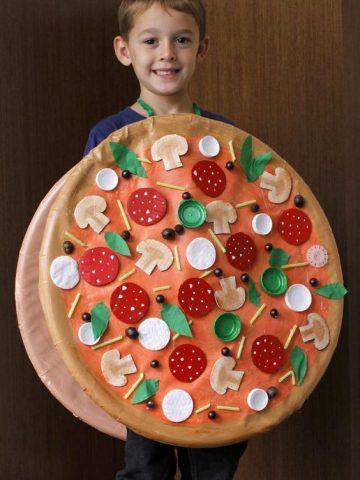Costume di Carnevale fai da te: pizza