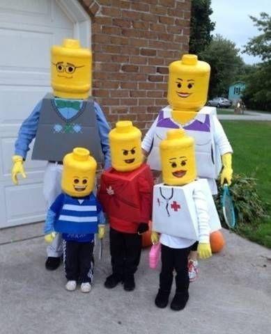Costume di Carnevale fai da te: Lego Family