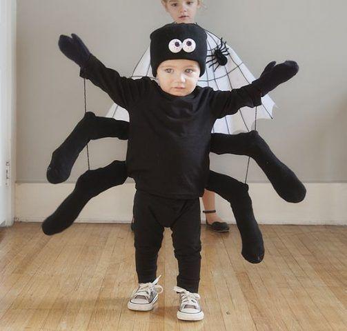 Costume di Carnevale fai da te: ragno