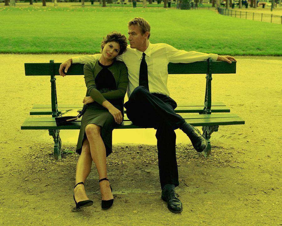 Couple Sitting on Bench Paris, France