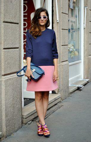 Eleonora Carisi in color block