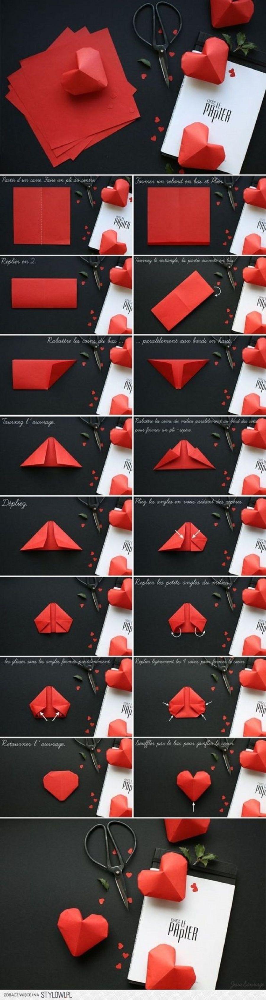 Come realizzare un cuore piegando la carta