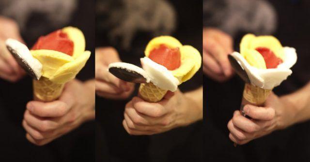 Come fare il gelato a forma di fiore