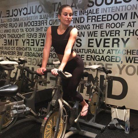 Lea Michele al Soul Cycle