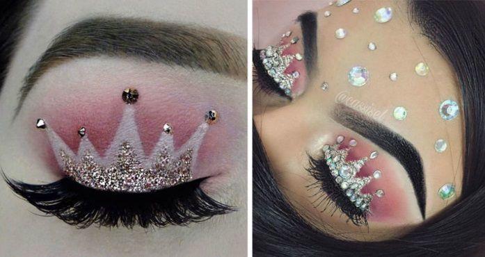 Make up occhi con corona: come avere un look da principessa