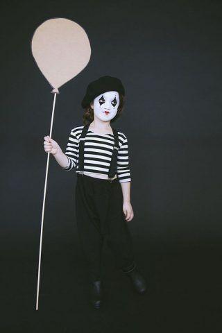 Costume di Carnevale fai da te: mimo