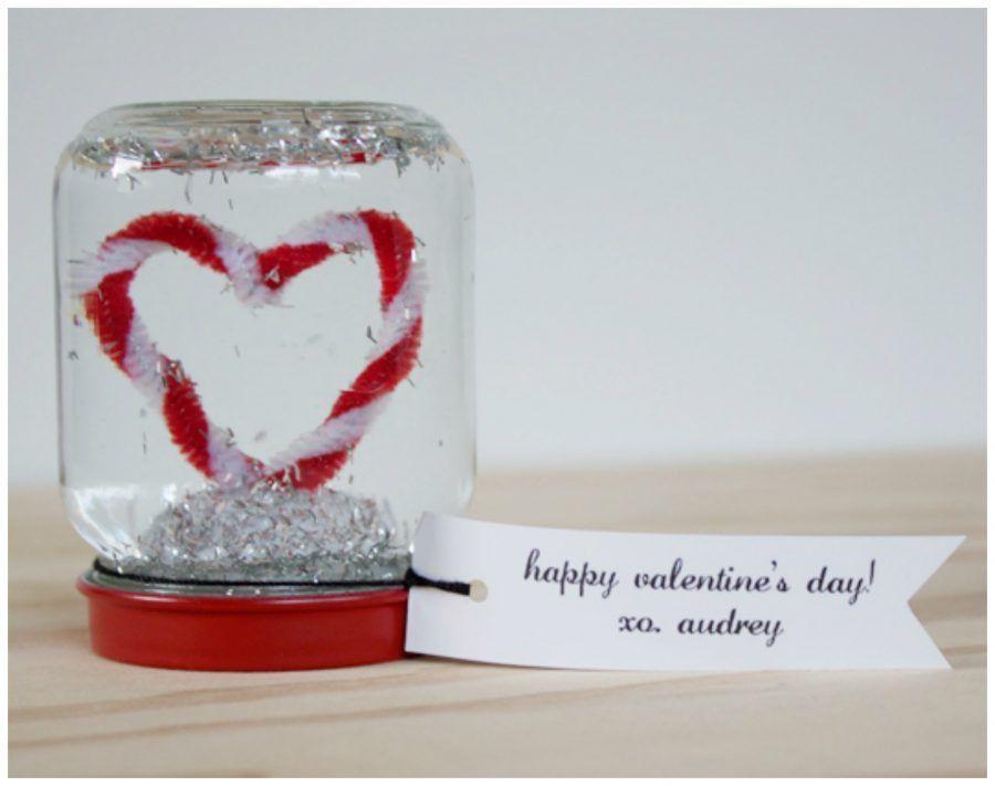 palla di vetro romantica