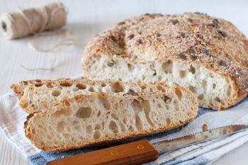 La video ricetta del pane senza impasto