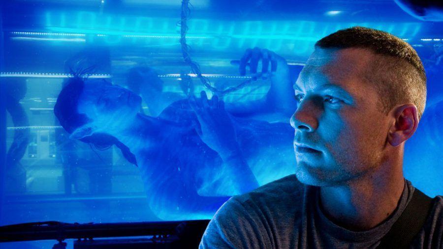 Sam Worthington nel film Avatar