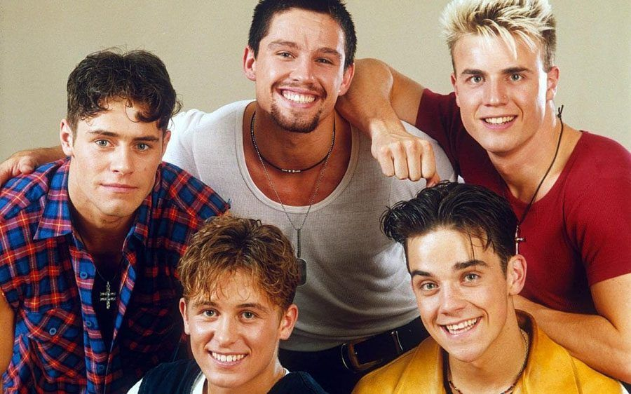 Robbie Williams con i Take That