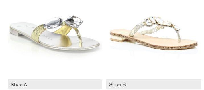 Qual è la scarpa low cost, la A o la B?