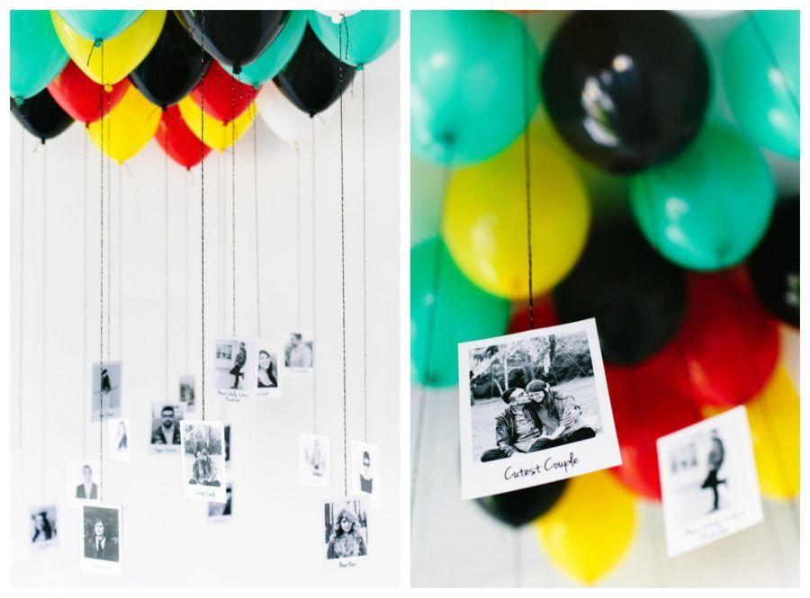 palloncini con foto in camera