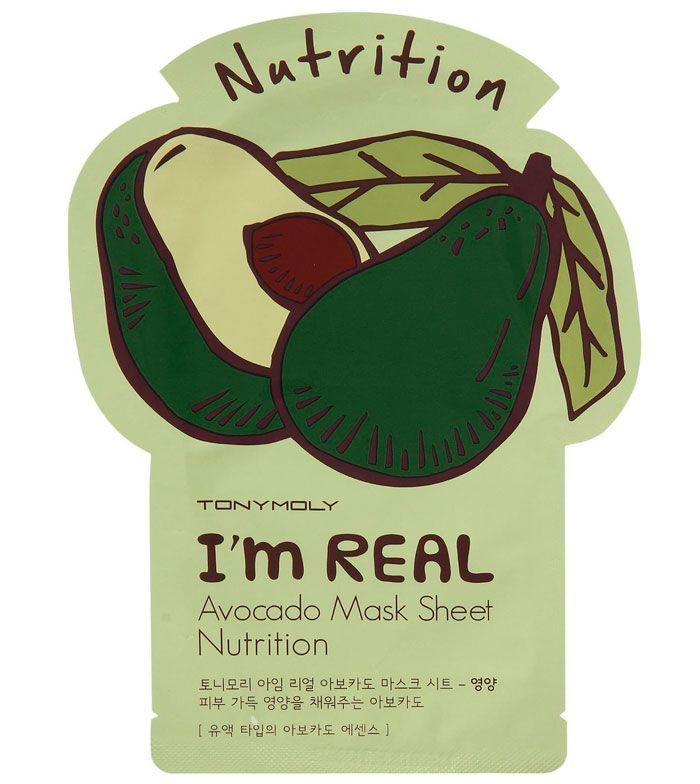 Tony Moly - Avocado Mask Sheet Nutrition-