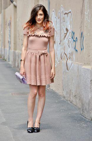 Eleonora Carisi con un look romantico