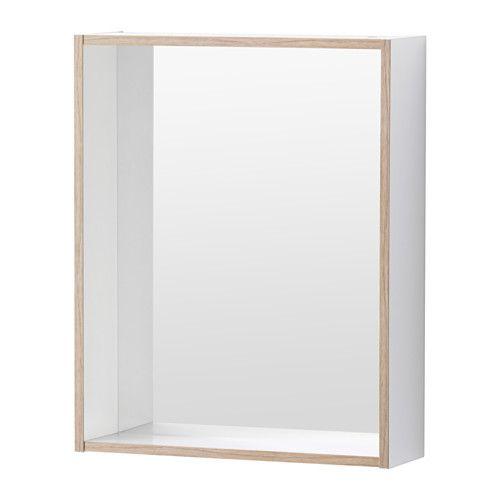 TYNGEN Specchio con mensola, bianco, effetto frassino € 15