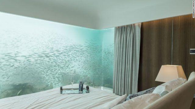 La camera da letto sottomarina