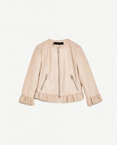 Giacca di pelle Zara €39.95