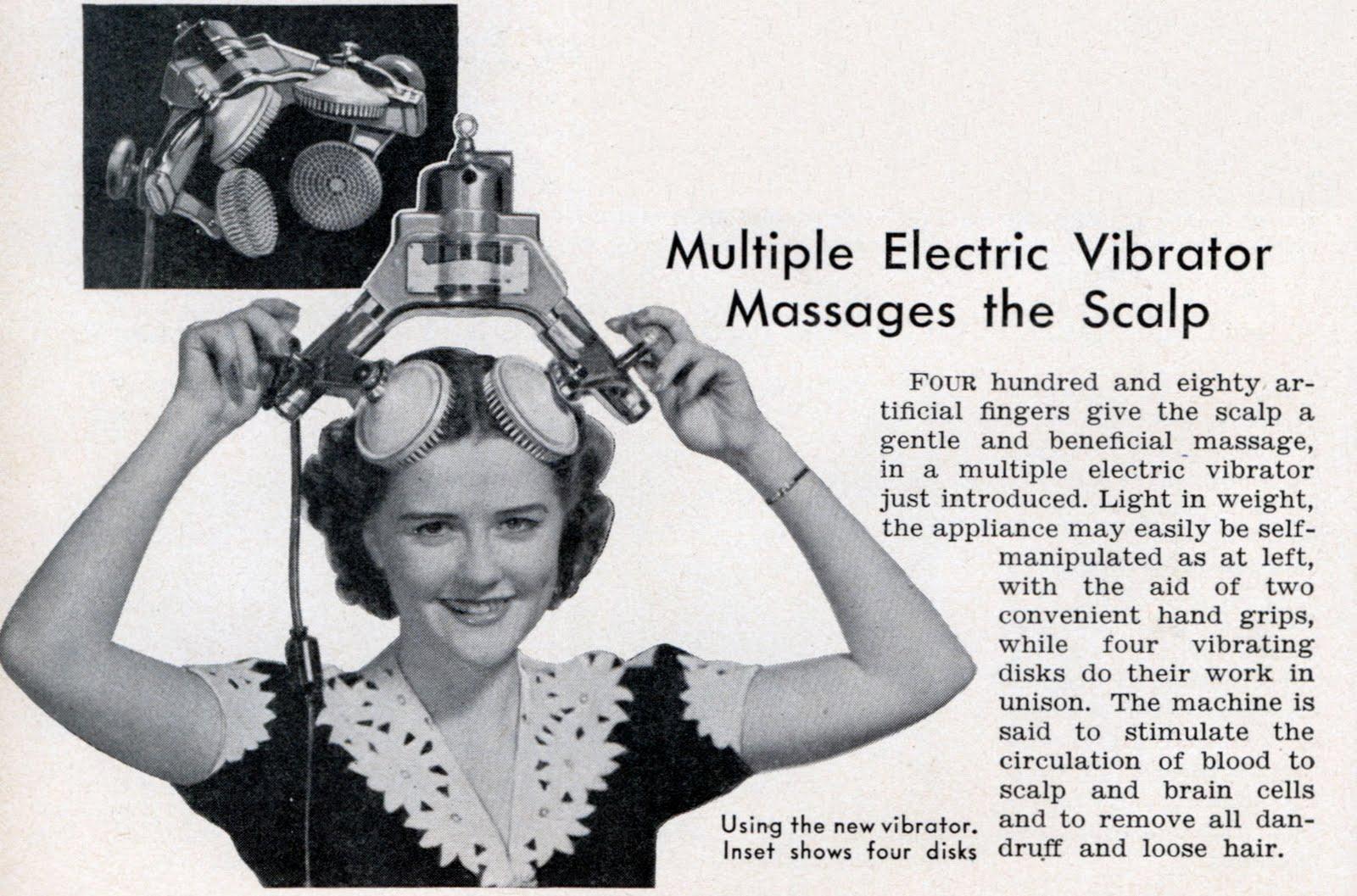 Multiple Electric Vibrator, il massaggiatore vibrante per la testa
