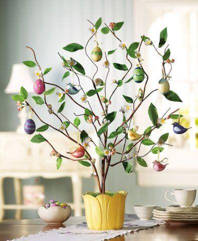 Come realizzare l 39 albero di pasqua fai da te bigodino - Fai da te pasqua decorazioni ...