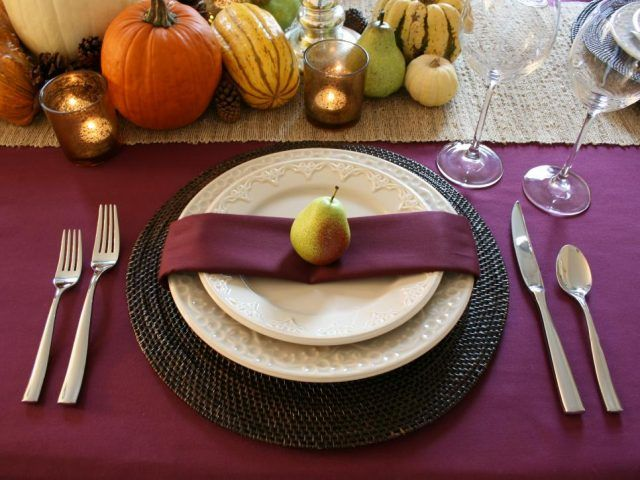 Come apparecchiare la tavola: con frutta