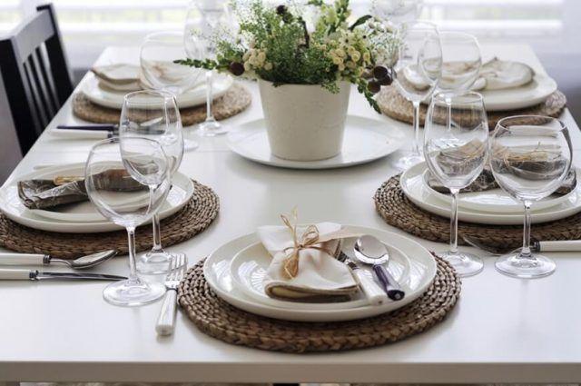 Come apparecchiare la tavola: stile elegante