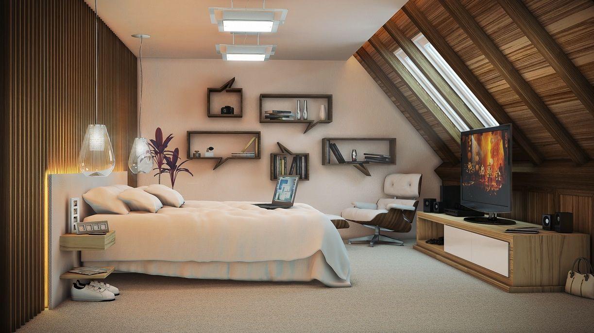 Una camera da letto accogliente