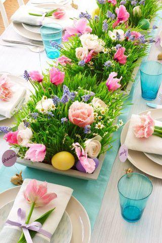 Centrotavola di Pasqua con fiori