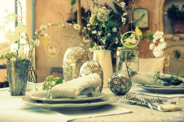 Centrotavola di Pasqua dallo stile rustico