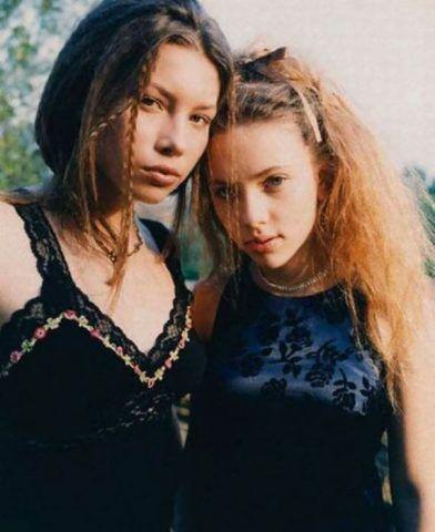 Jessica Biel, 17 anni, e Scarlett Johansson, 14 anni
