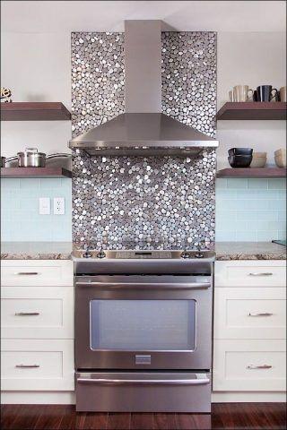 Cucina con decoro di glitter