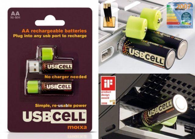 Le batterie che si ricaricano con le porte USB