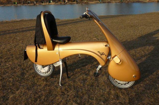 Lo scooter che si piega