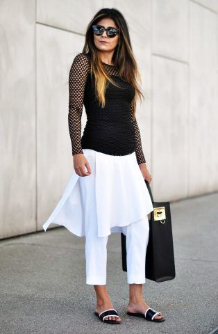 Look white and black